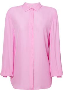 Camisa Le Lis Blanc Básica Lou Lou Rosa Feminina (Lotus, 44)