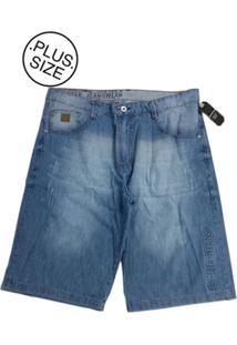 Bermuda Plus Size Gangster Jeans Azul