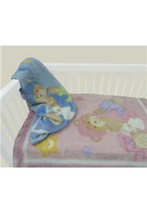 Cobertor Infantil Camesa Microfibra Feminino Balão - Rosa