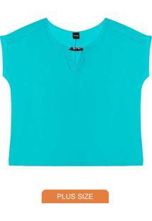 Blusa Rovitex Plus Azul