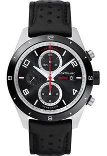 24d25ea317f ... Relógio Montblanc Masculino Couro Preto - 116098