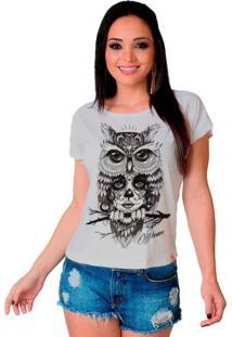 Camiseta Wevans Coruja Catrina Branca
