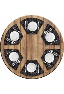 Jogo Americano Love Decor Para Mesa Redonda Wevans Pizza Kit Com 6 Pçs