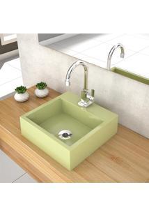 Cuba De Apoio P/ Banheiro Compace Veneza Q395W Quadrada Verde Acqua