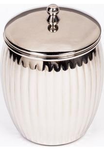 Porta Algodão Vintage Silver-Prata-Un