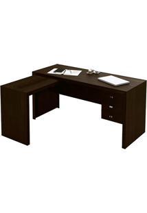 Mesa Para Escritório Me4106 3 Gavetas Tabaco - Tecno Mobili