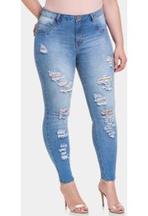 2a6bec51e ... Calça Jeans Claro Lunender Mais Mulher