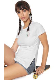 Camiseta Volcom Estampada Branca