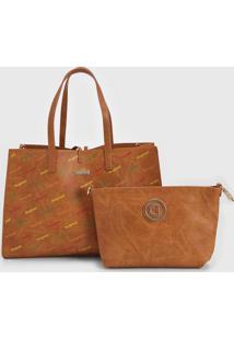 Bolsa Desigual Shopping Bag Intra Caramelo