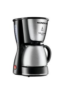 Cafeteira Elétrica Mondial Dolce Arome, 15 Xícaras, 550W, 110V, Preto/Inox - C-34Ji-15X