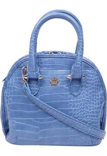Bolsa Tote Ana Hickmann Croco Casual Feminina - Feminino-Azul