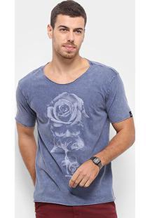 Camiseta Bossa Brasil Rose Skull Masculina - Masculino