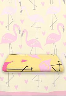 Toalha De Praia Teka Malaga Flamingos