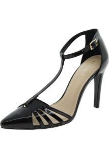 a7bb962151 Clóvis Calçados. Sapato Com Salto Alto Feminino Preto Conforto Scarpin ...