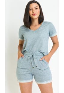 Blusa Pks Comfort Moletinho Azul