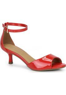 Sandália Salto Fino Bebecê Vermelho