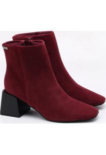 Ankle Boot Nobuck Burgundy