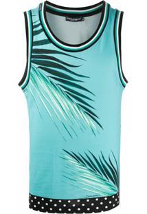 Dolce & Gabbana Regata Com Estampa De Palmeira - Azul