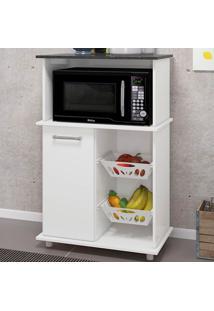 Armário De Cozinha Malu 1 Porta Fruteira Branco - Nicioli