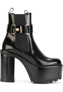 Versace Ankle Boot Meia Pata - Preto