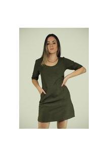Vestido Dona Popi Magali Verde Militar