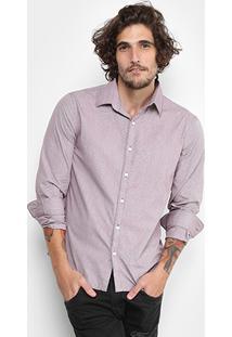 Camisa Ellus Maquinetada Slim Fit Masculina - Masculino