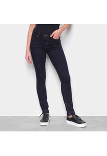 Calça Jeans Calvin Klein Super Skinny Lisa Feminina - Feminino-Marinho