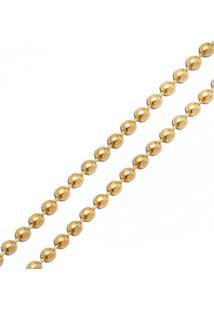 Corrente Em Ouro 18K Bolinhas De 1,1Mm Com 50Cm
