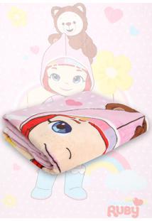 Cobertor Solteiro Lepper Rainbow Ruby Rosa 1,50 X 2,20