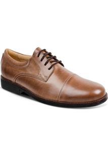 Sapato Social Couro Derby Sandro Moscoloni Jorge Masculino - Masculino-Marrom Claro