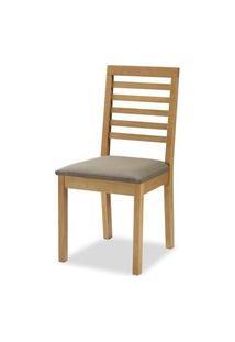 Cadeira Navagio Encosto Ripado Assento Estofado Marrom 90Cm - 59605 Preto