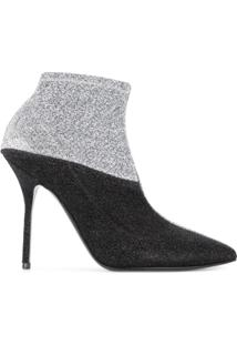 Pierre Hardy Ankle Boot Com Contraste - Metálico
