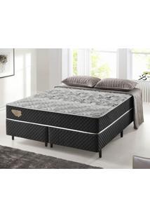 Cama Box Casal King Size Com Molas Ensacadas Relax Adorabile Preto - 193X203X63Cm