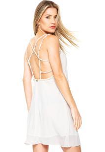 Dafiti. Vestido Frente Única Ana Hickmann Curto Pedras Off-White d08889f40c