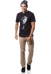 Camiseta Zero Medieval Masculina - Masculino-Preto