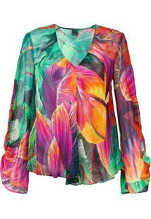 Pinko Blusa Com Estampa Tropical - Verde
