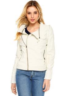 Jaqueta Desigual Perfuros Decorativos Off-White