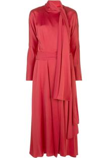 Sies Marjan Vestido De Crepe Bea - Vermelho
