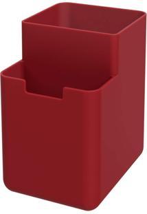Organizador De Pia Single Coza Vermelho Bold