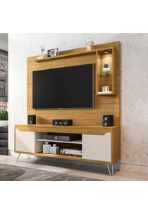 Estante Para Home Theater E Tv Até 52 Polegadas Gabbana Marrom E Off White