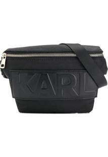 Karl Lagerfeld Pochete Com Estampa Ikonik Karl - Preto