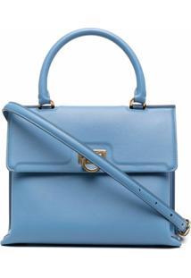 Salvatore Ferragamo Bolsa Tote Trifolio - Azul