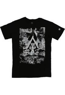 Camiseta Stoned Laranja Mecânica Preto