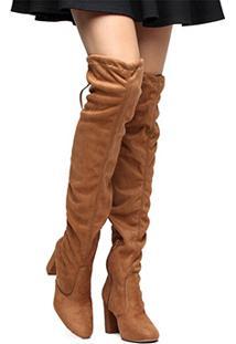 b61797bb10684 Bota Caramelo Over Knee feminina