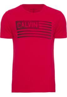 Camiseta Masculina Estampa Bandeira Usa - Vermelho