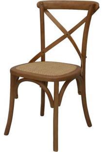 Cadeira Katrina Madeira Assento Em Rattan Cor Betula - 18560 - Sun House