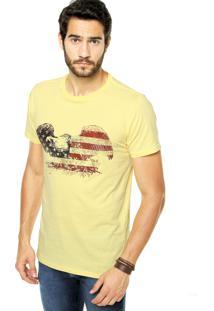 Camiseta Fiveblu Reta Amarela