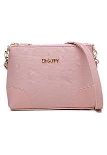 Bolsa Pequena Dhaffy, Alça Transversal Ajustável Rosa