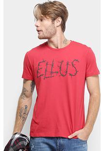 Camiseta Ellus Cotton Fine Ellus Barbed Wire Classic Masculina - Masculino-Vermelho