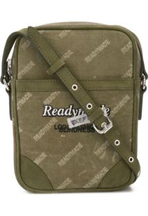 Readymade Logo Print Messenger Bag - Verde